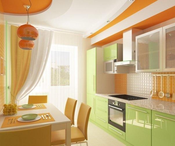 Цветовое сочетание в интерьере кухни