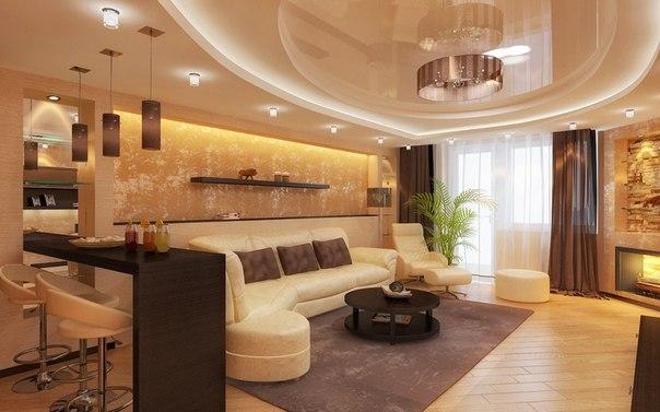Декор гостиной комнаты фото