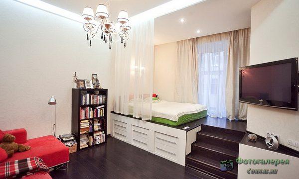 Дизайн однокомнатной квартиры 40 кв.м студии