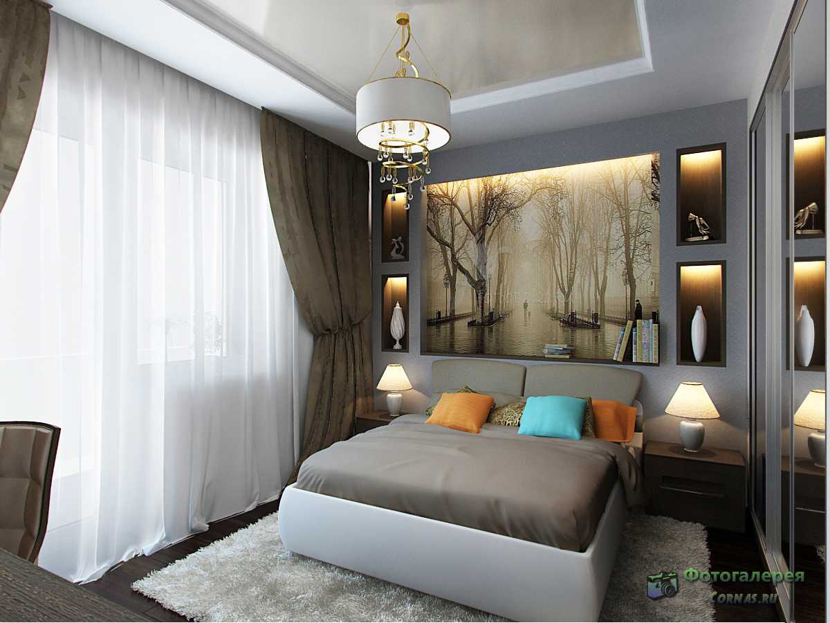 Фото дизайн спальни 12 кв