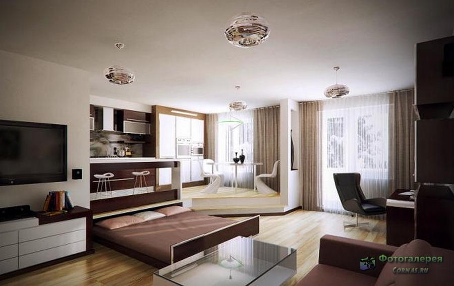 Дизайн квартиры-студии 40 кв.м