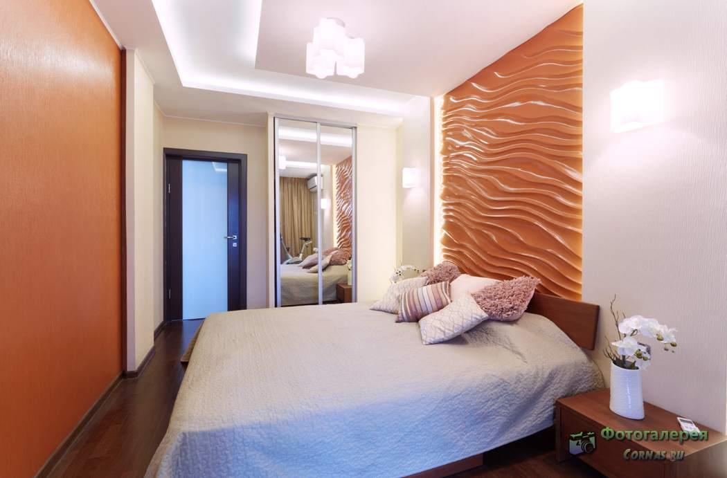 Дизайн спальни 12 кв. М. Фото