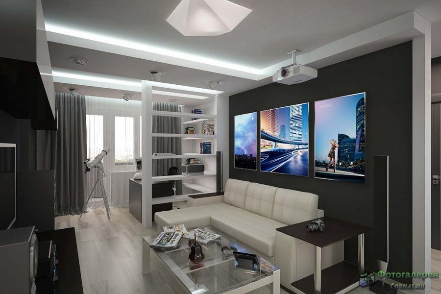 Дизайн зала 18 кв с камином