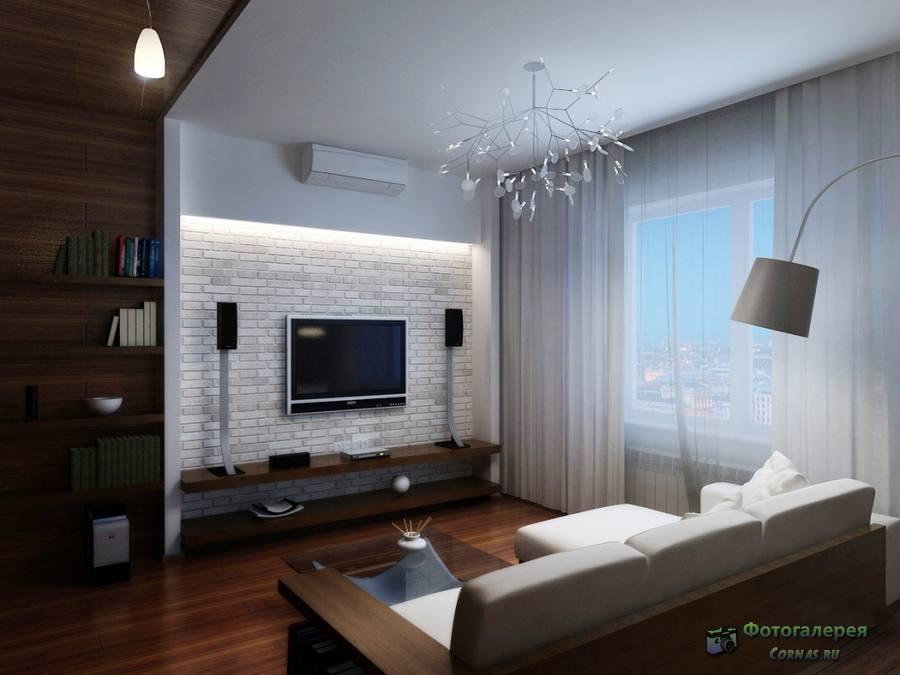 Гостиная дизайн 18 кв.м