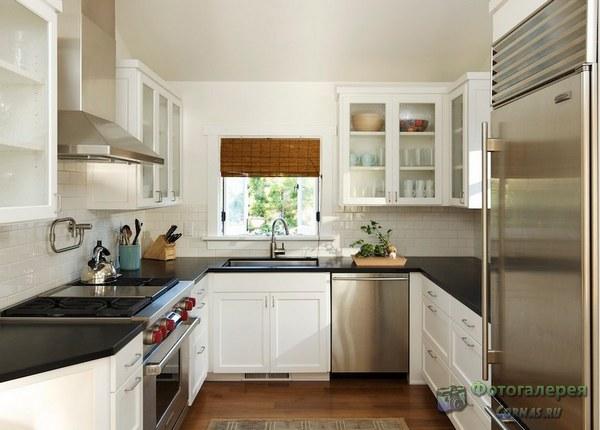 кухонные гарнитуры п образные фото