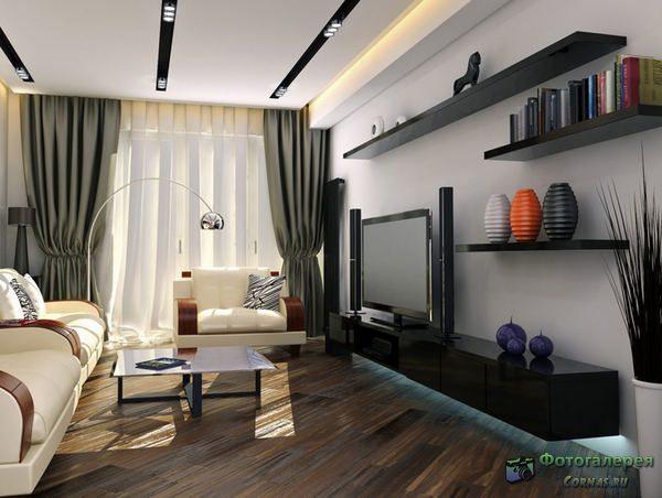 Дизайн спальни-гостиной 16 кв.м фото
