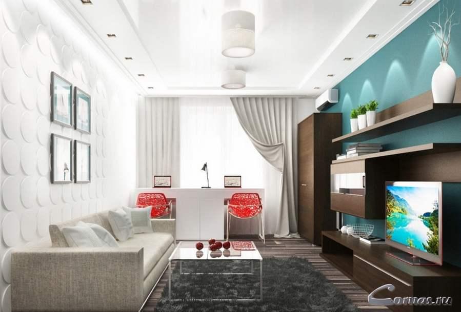 Дизайн интерьера гостиной 17