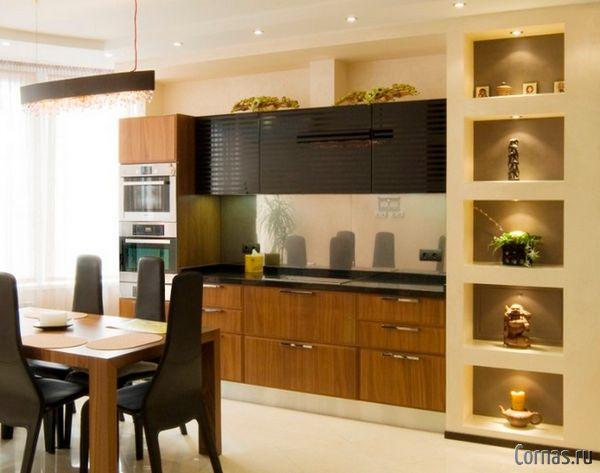 Декор ниши на кухне