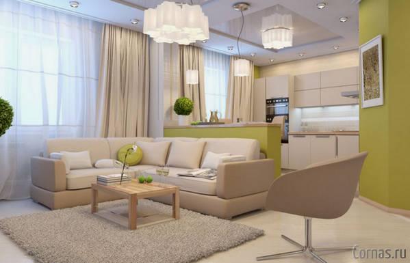 Дизайн квартира студия 35 кв.м фото