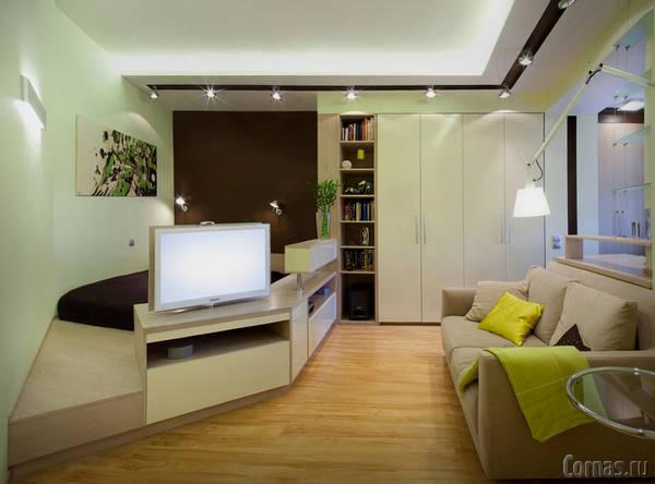 Дизайн в пятиугольной комнате