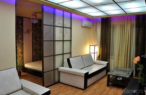 Перегородки в комнате для зонирования фото