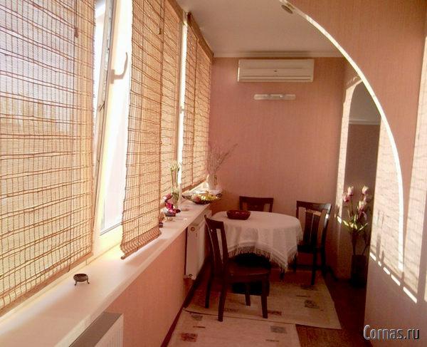 Дизайн кухни с балконом фото.