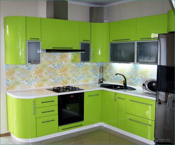 Кухни салатового цвета угловые дизайн
