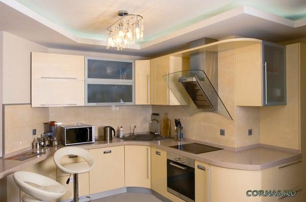 Фото дизайн кухни ванильного цвета