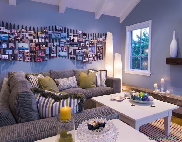 Свои фотографии в интерьере квартиры