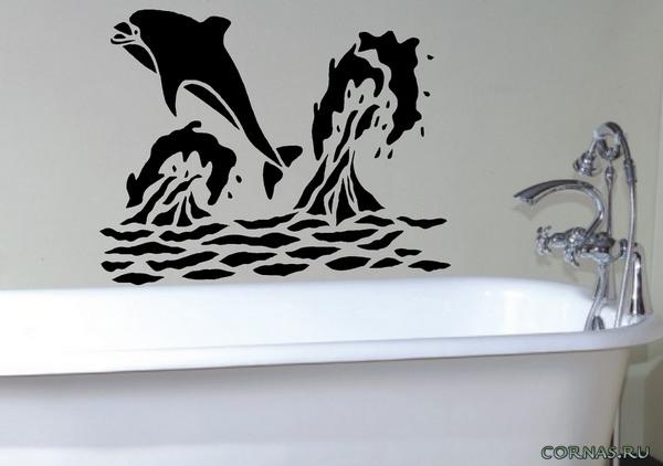 Нарисовать в ванной своими руками 33