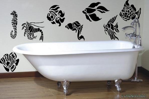 Нарисовать в ванной своими руками 50