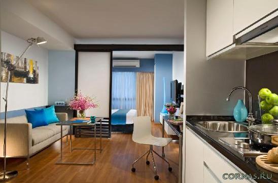 Дизайн квартиры студии 25 кв.м фото (10)