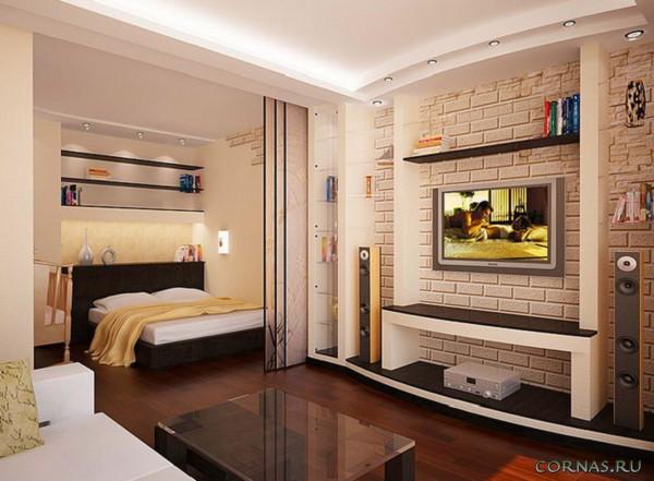 Дизайн квартиры студии 25 кв.м фото (5)