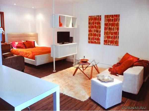 Дизайн квартиры студии 25 кв.м фото (7)