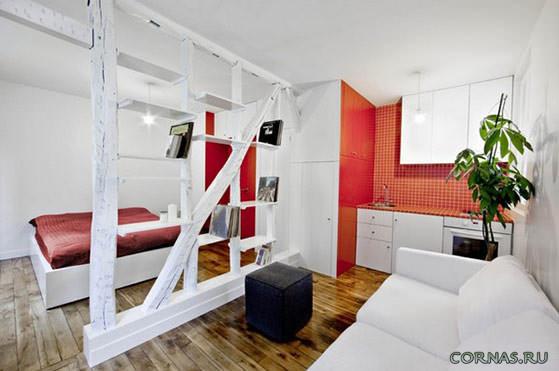 Дизайн квартиры студии 25 кв.м фото (8)
