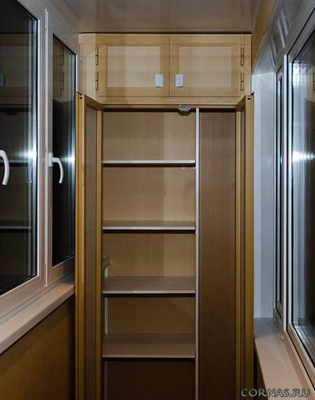 Встроенный шкаф для лоджии своими руками