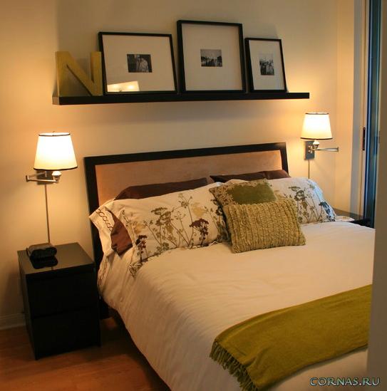 на какой высоте должны вистеть бра в спальной комнате