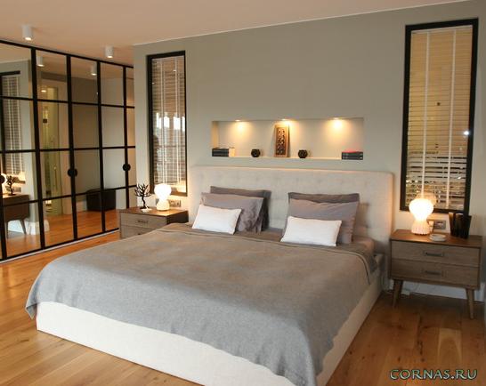 ниши над кроватью в спальне фото