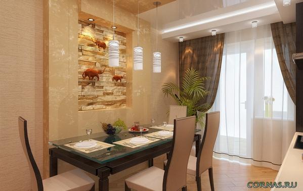 Как оформить стену над столом в кухне