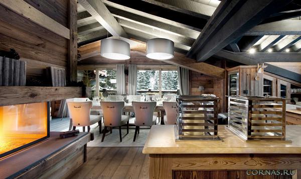 Фото деревянного дома шале 8