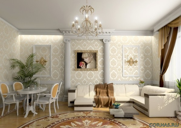 Дизайн гостиной классический