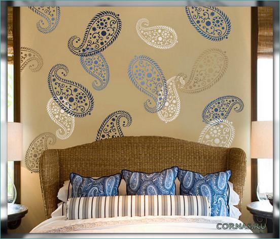 Декор стены своими руками в спальне