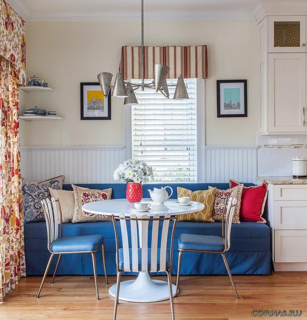 розовые интерьер кухни с диваном советы гостях