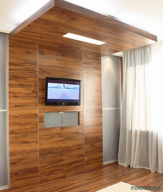 Декор стен ламинатом