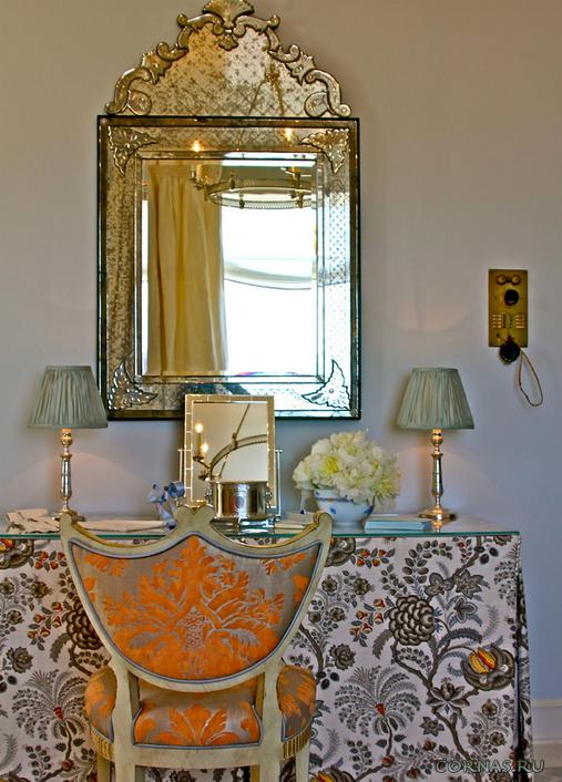 Декор трюмо с зеркалом своими руками
