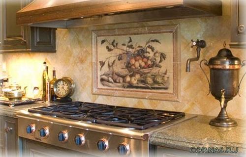 Kitchen tile murals backsplash