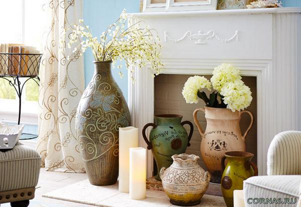 фото вазы напольные в интерьере