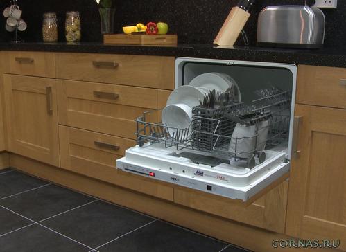 компактная посудомоечная машина в интерьере фото