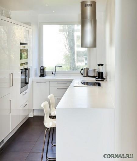 Великолепный дизайн интерьера маленькой кухни.