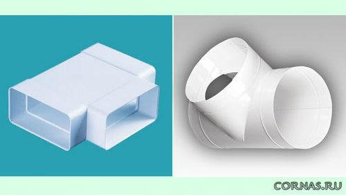 Короб вентиляционный пластиковый прямоугольный