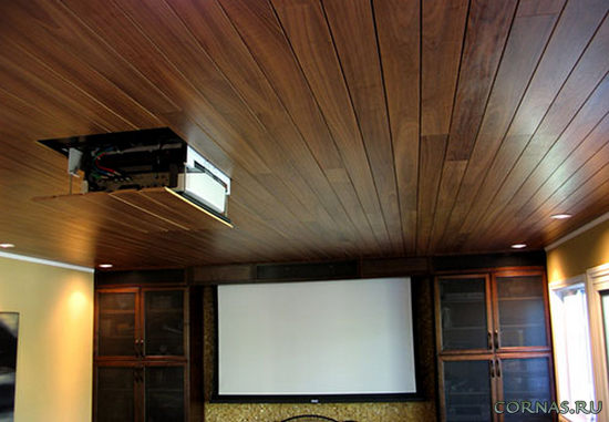 Дизайн потолка из ламината