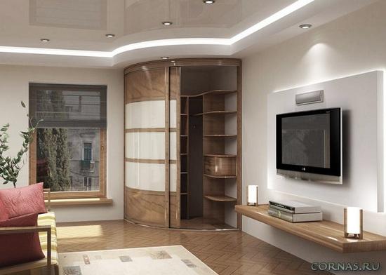 шкаф купе в гостиной формируем интерьер правильно