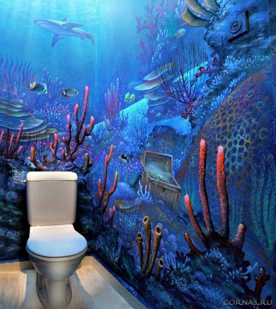 Фотообои в туалете