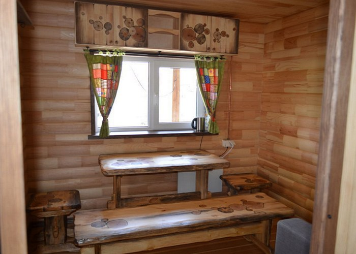 Предбанник в бане интерьер