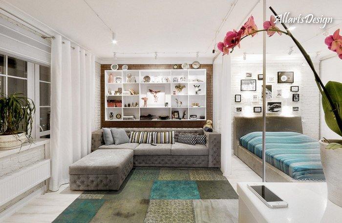 Дизайн квартир (зонирование) фото - 5