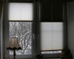Шторка плиссе на окнах