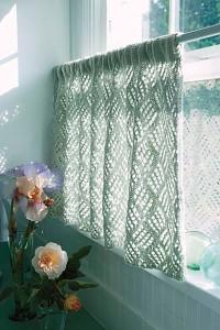 Как связать красивые шторы