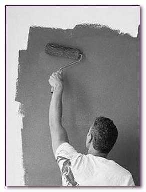 Как красить стены краской. Валик, краскопульт.