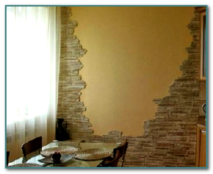 Декорирование стен на кухне. Фото