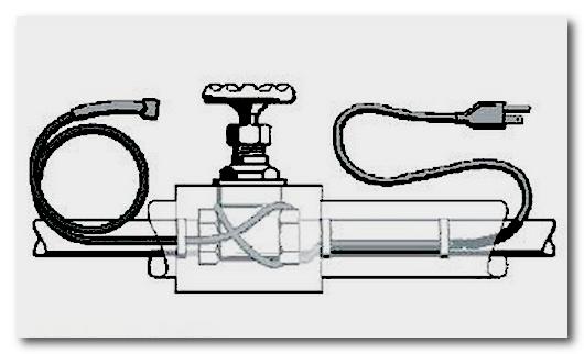 Греющий кабель для водопровода. Защита труб от замерзания